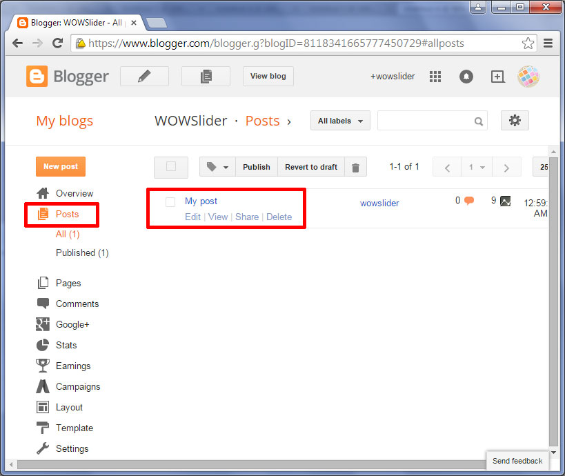 blogger post template code - how to add wowslider to blogger