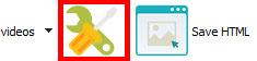 Properties button : jQuery Image Slider Maker