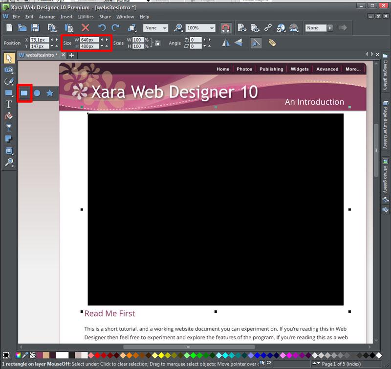 Xara Web Designer Integrating Wow Slider