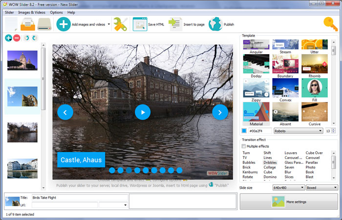 Add Images To jQuery Slider : Free Photo Slider Maker