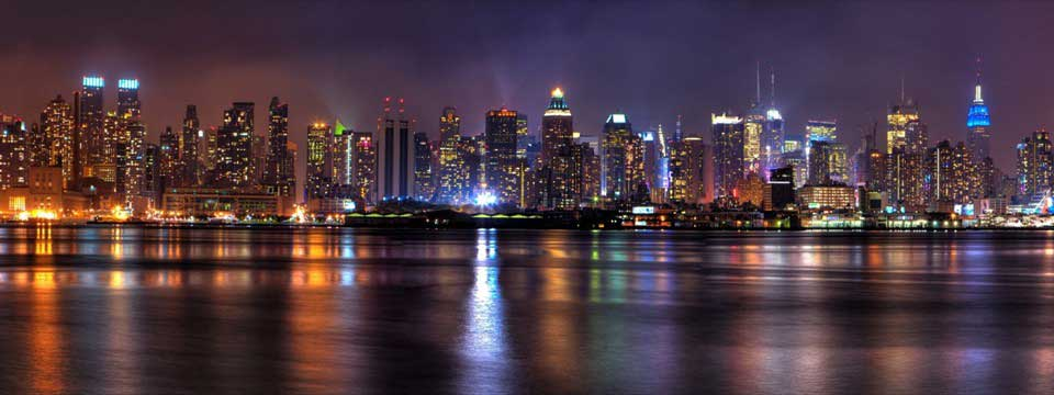 Night Panorama NYC From Jersey : HTML5 Content Slider