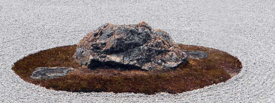 The Japanese rock garden