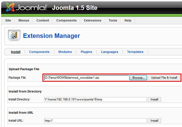 Joomla Extension Manager