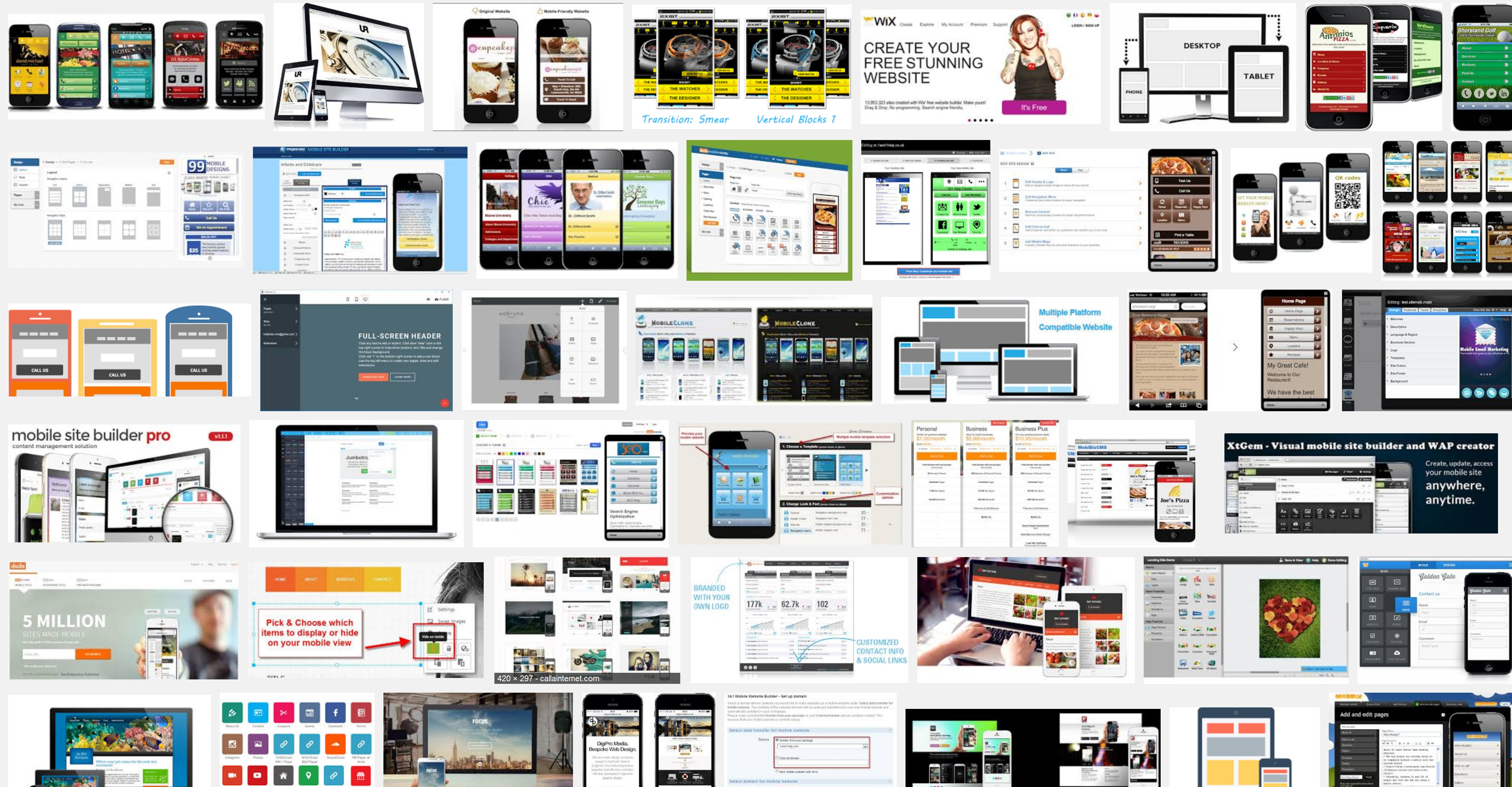 WYSIWYG Mobile Website Creator Software