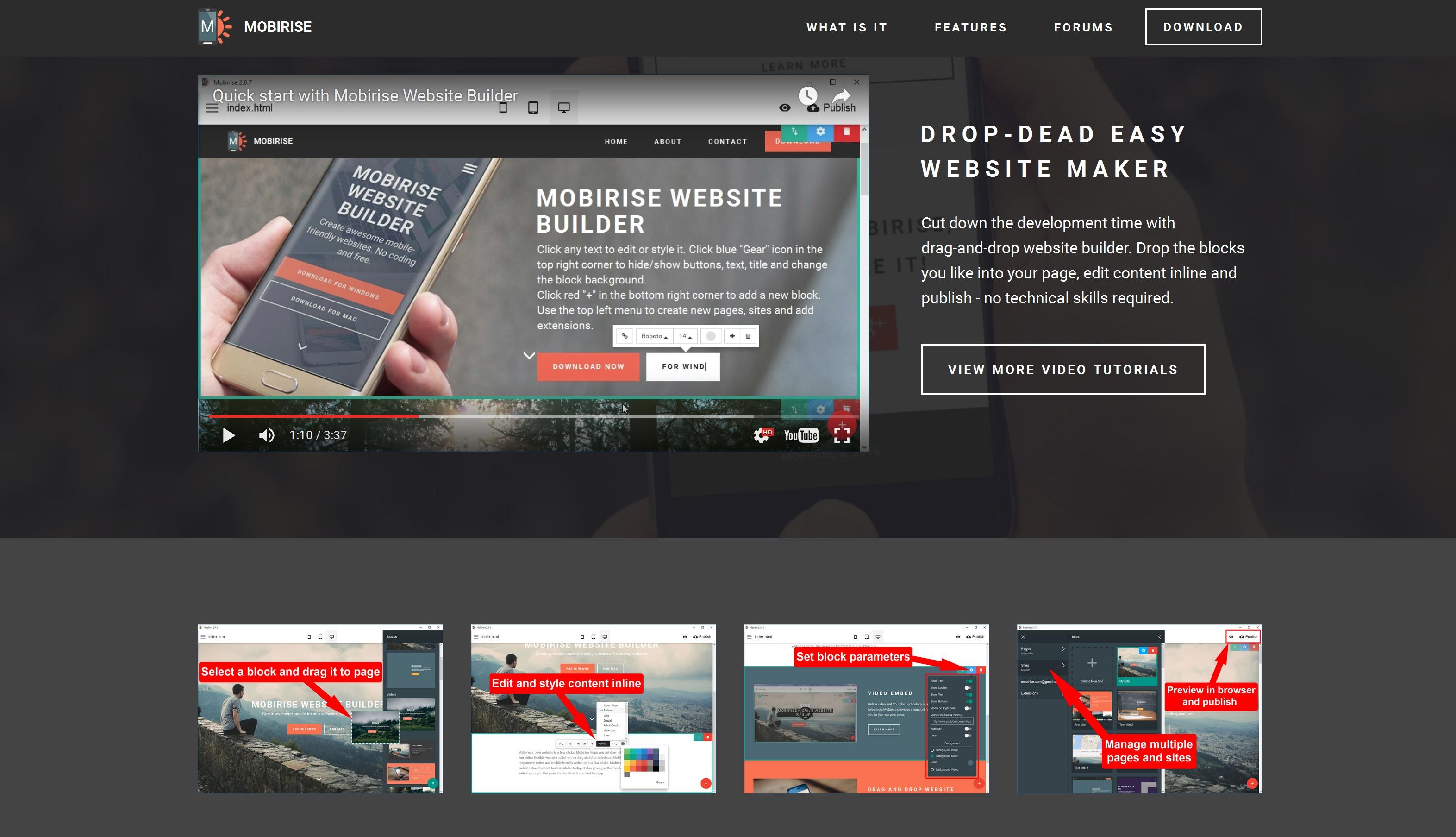 Responsive Mobile Website Builder