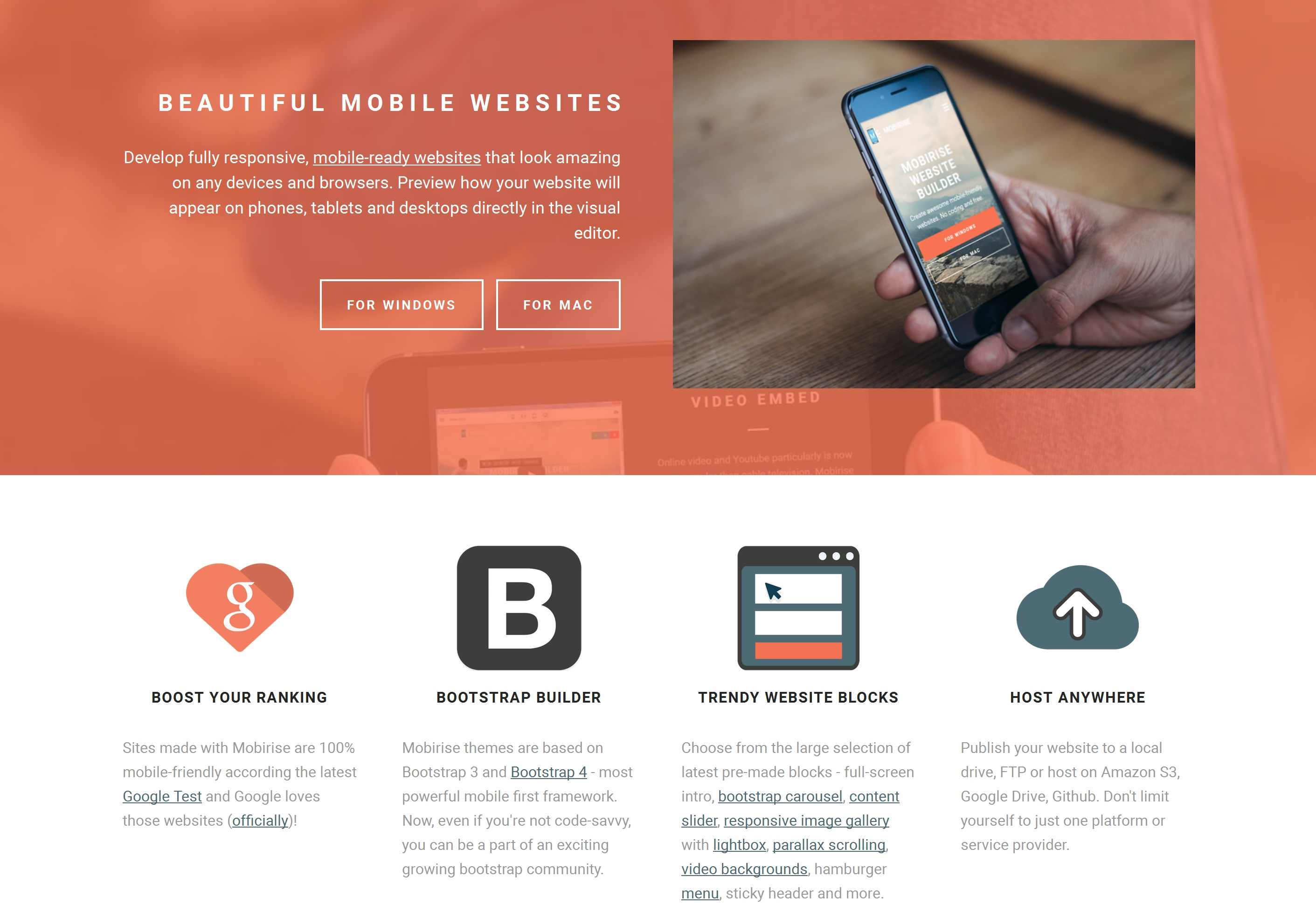 Responsive Mobile Website Builder