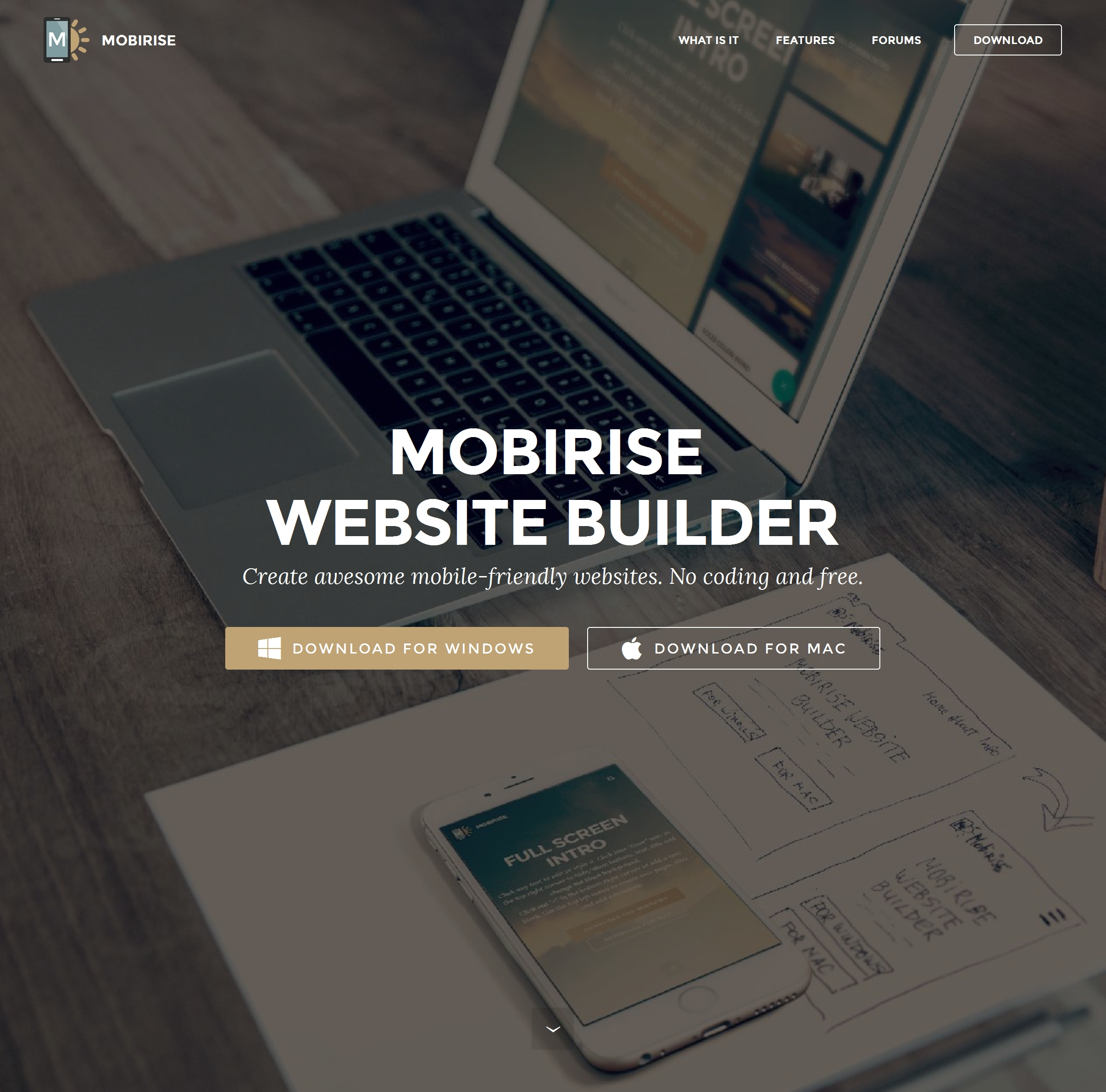 best free website builder mobirise v3 review