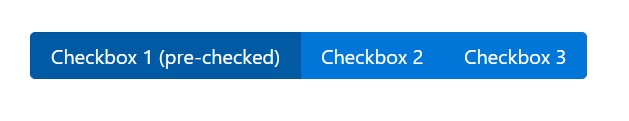 Bootstrap checkbox buttons