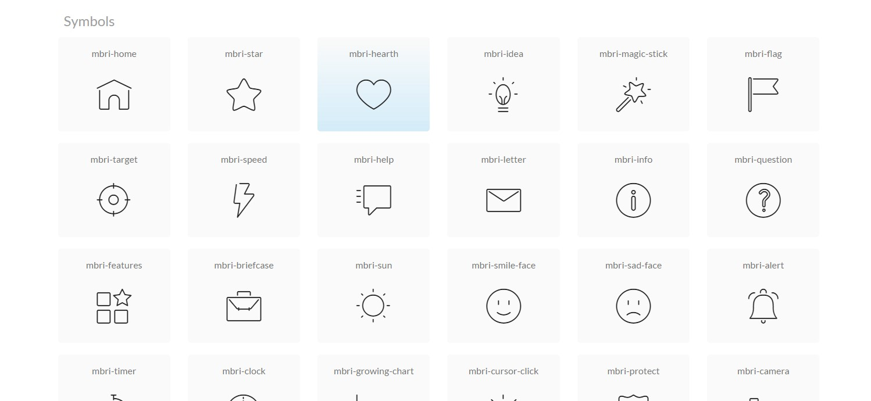 mobirise icons set