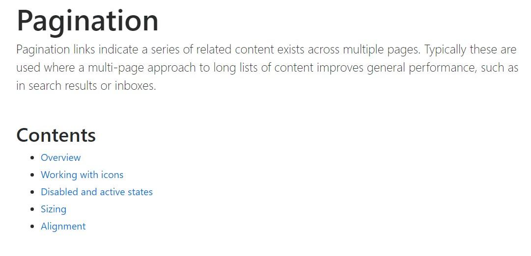 Bootstrap pagination  formal documentation