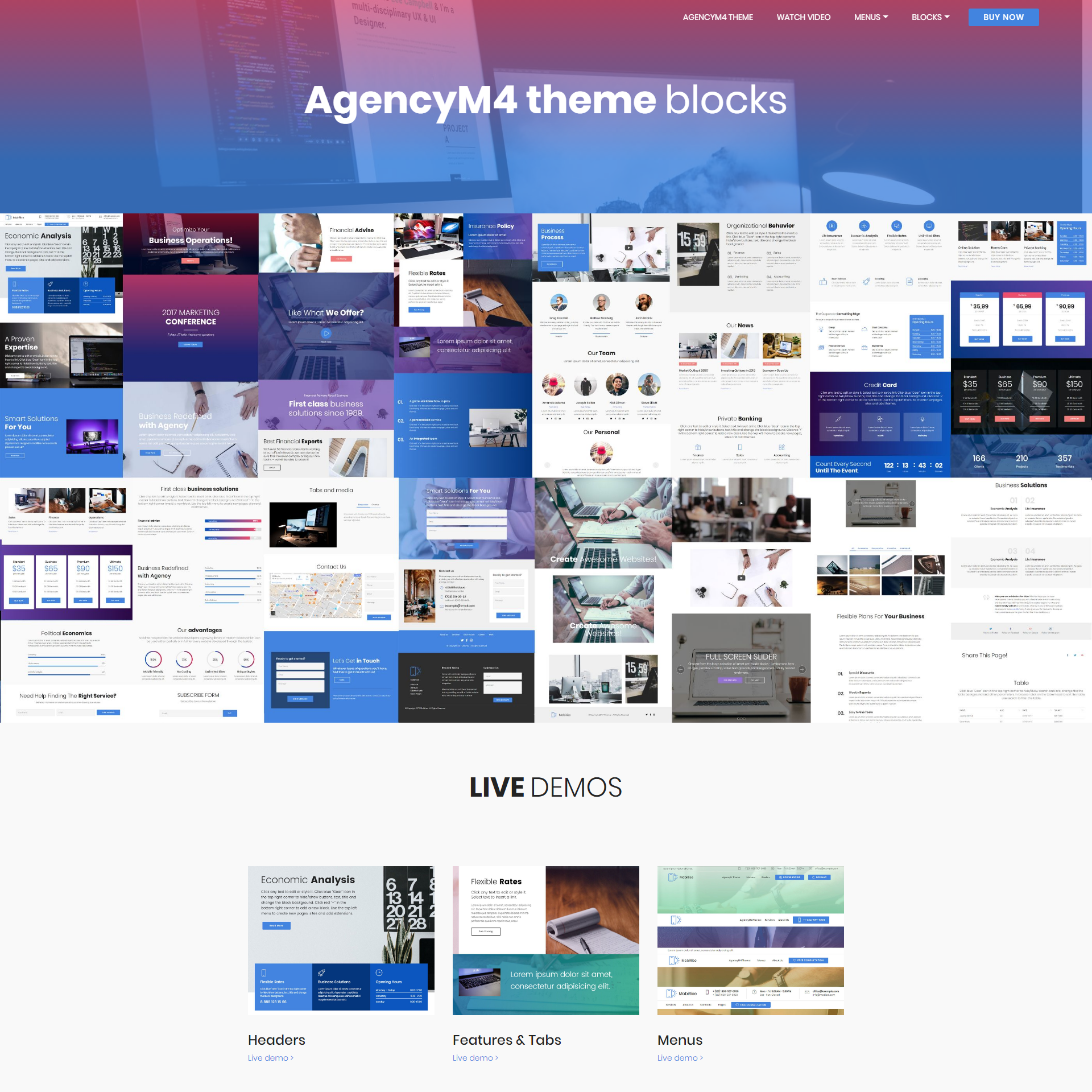 CSS3 Bootstrap AgencyM4 Templates