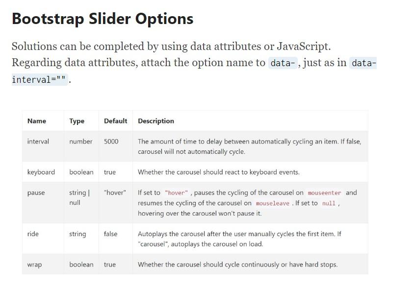 Bootstrap Slider
