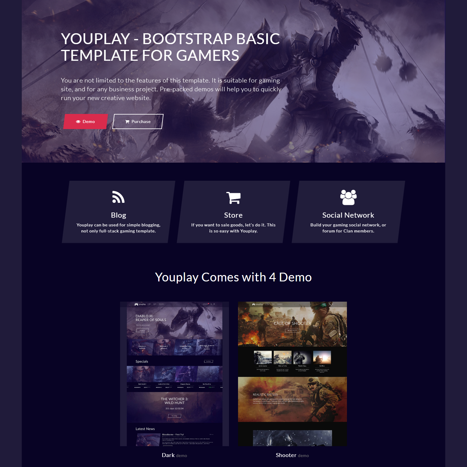 HTML5 Bootstrap YouPlay Templates