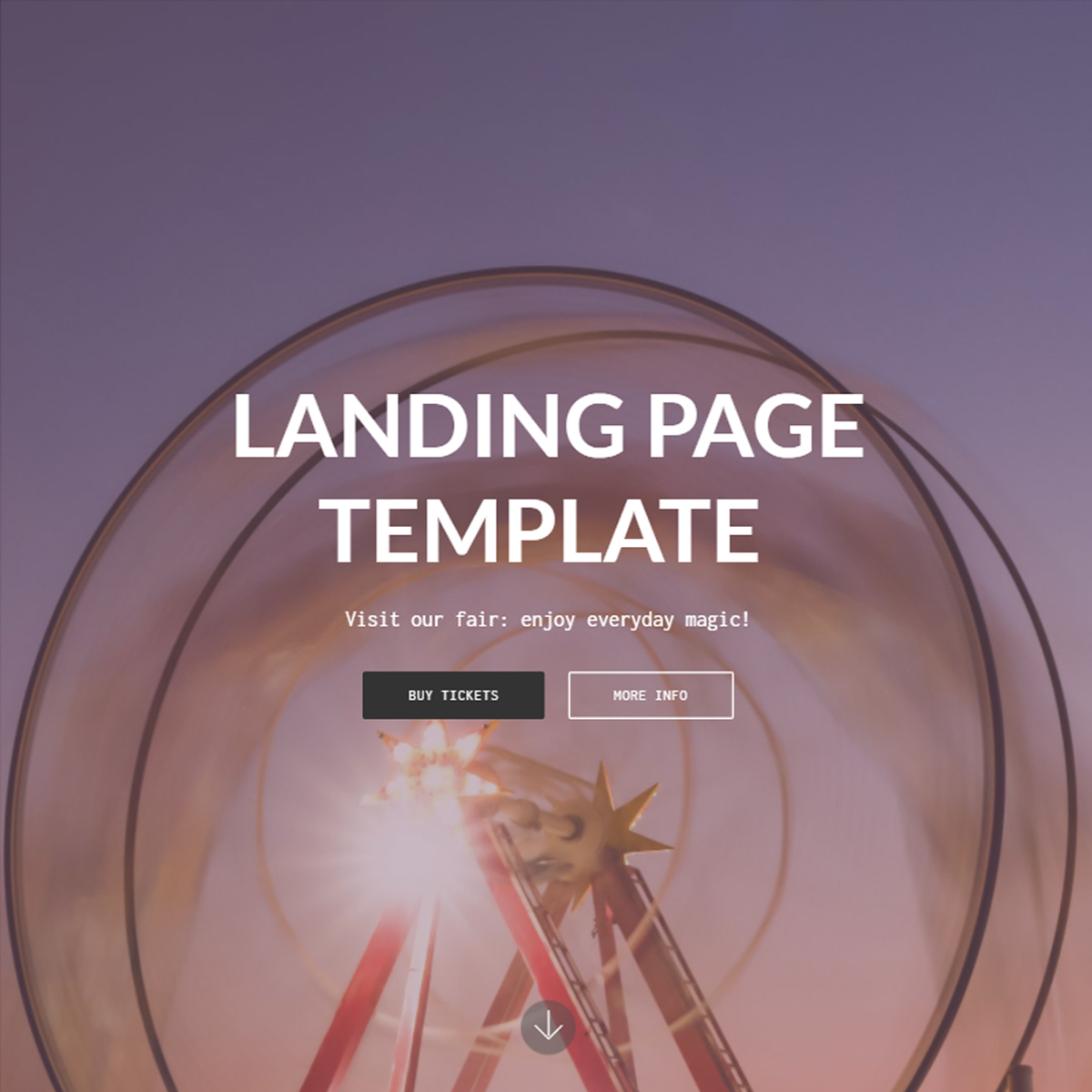 HTML5 Bootstrap Landing Page Templates