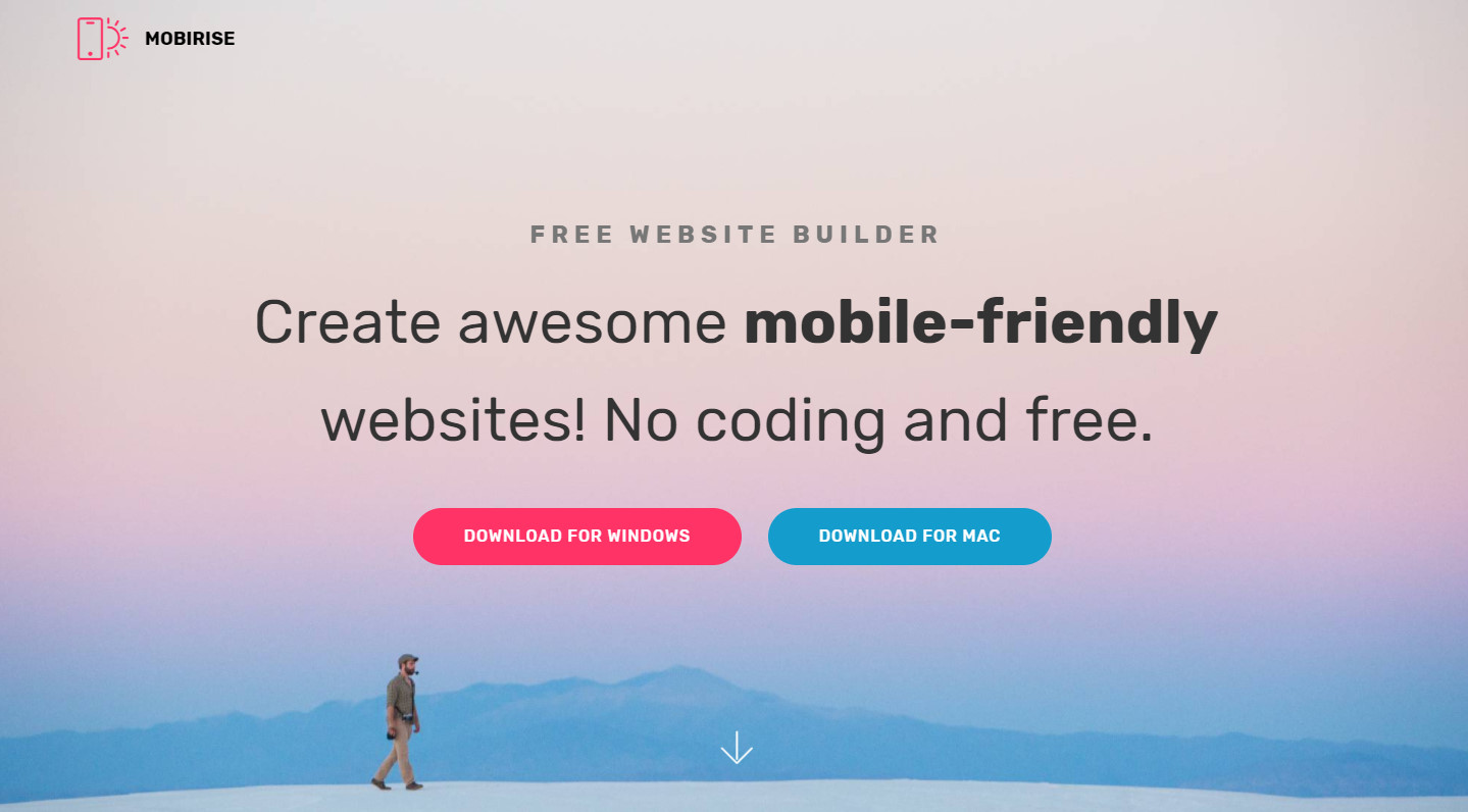 mobirise free mobile website builder software free website