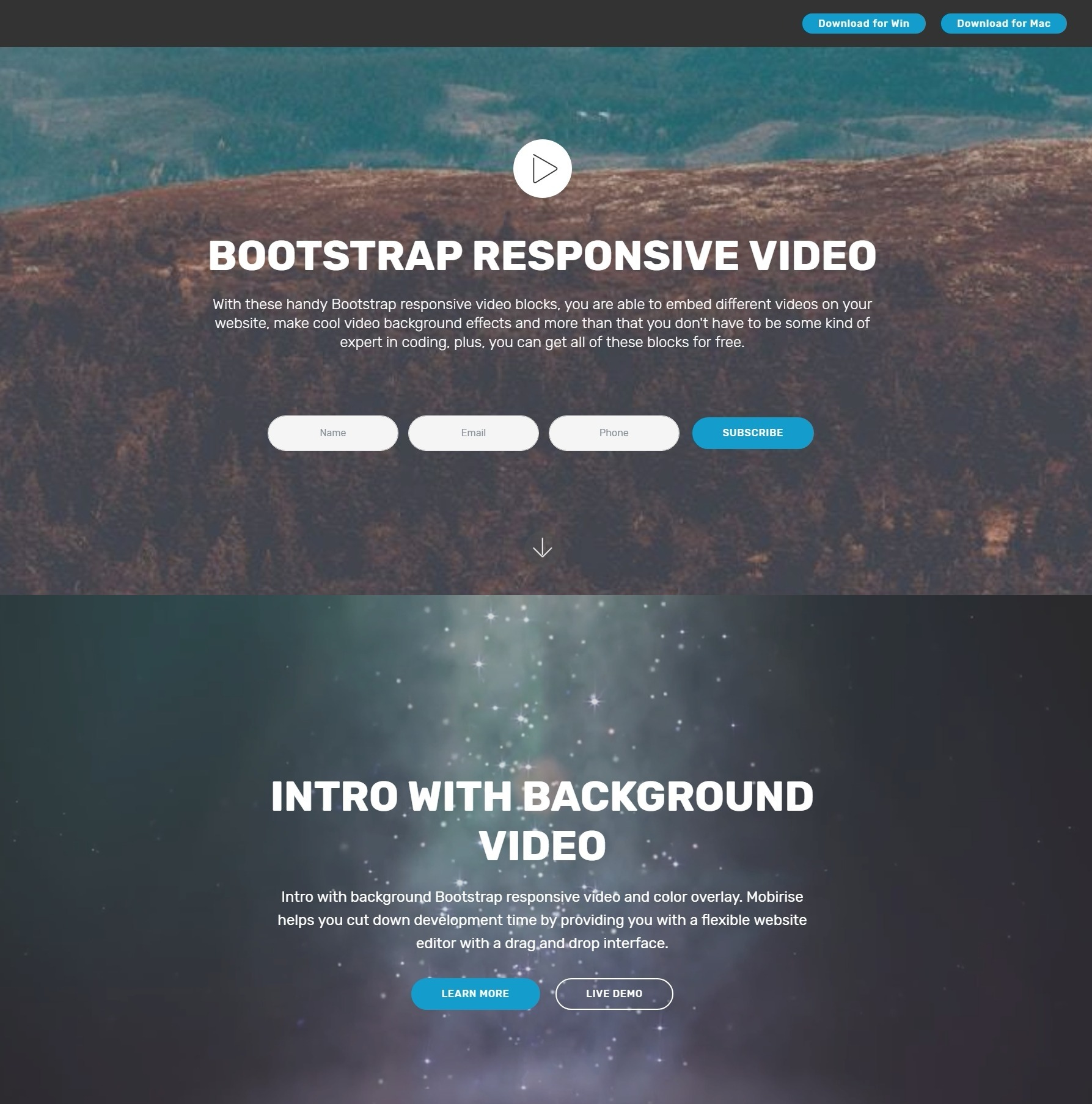 New and Beautiful HTML5 Bootstrap Carousel Video Players ...