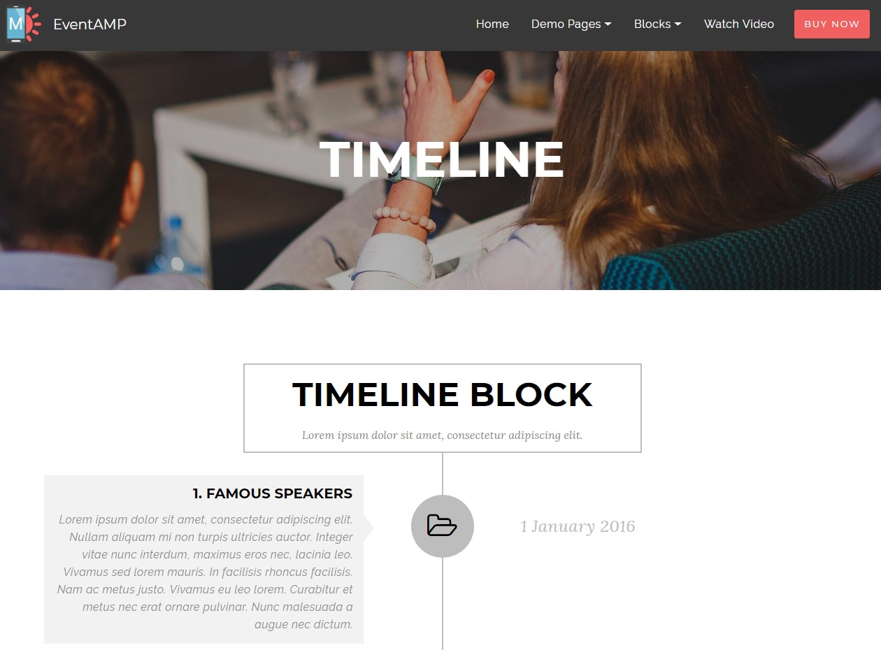 EventAMP HTML Timeline Templates