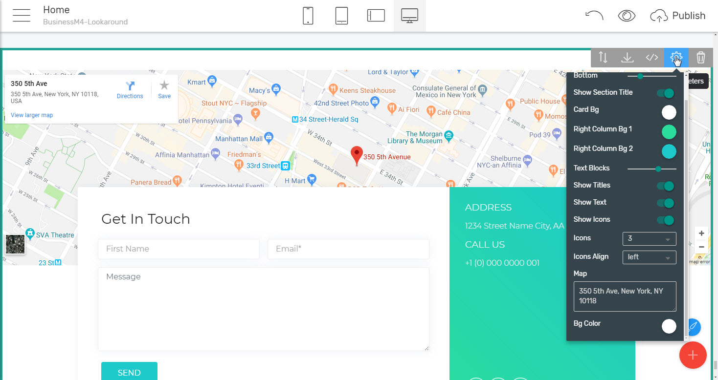 Maps and Forms Template for Business Website - html5 business template