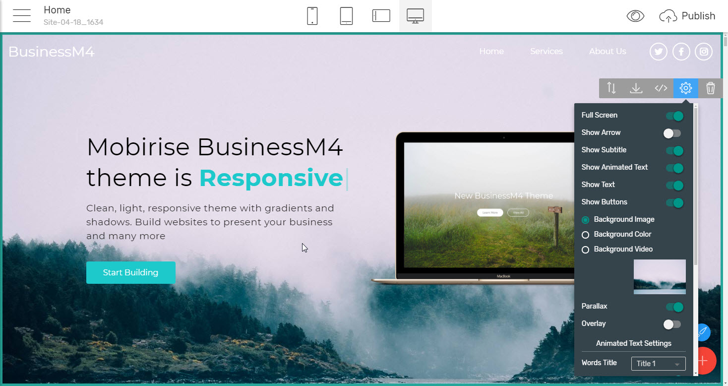 HTML Bootstrap Business Theme - premium html template
