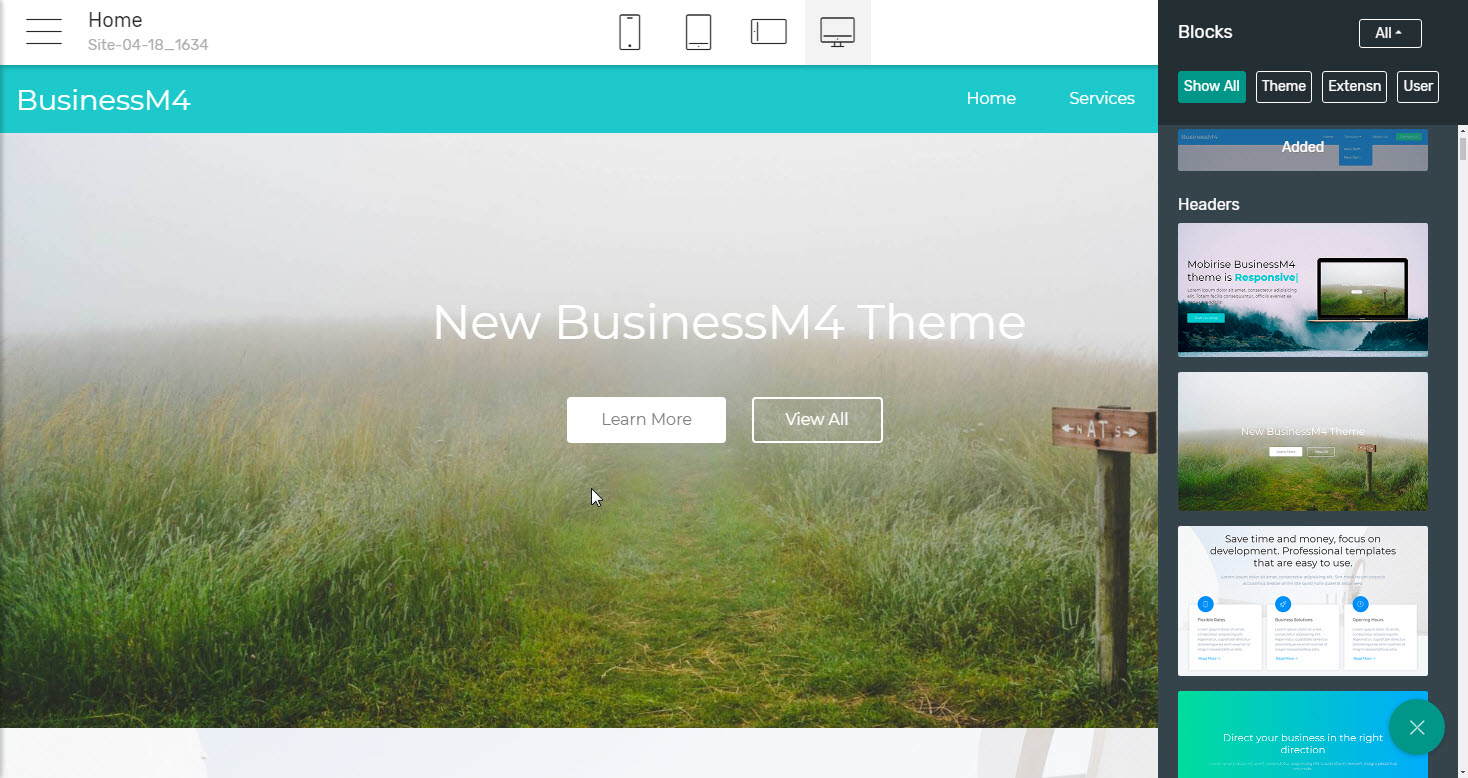 Headers Business Website Template - premium html theme