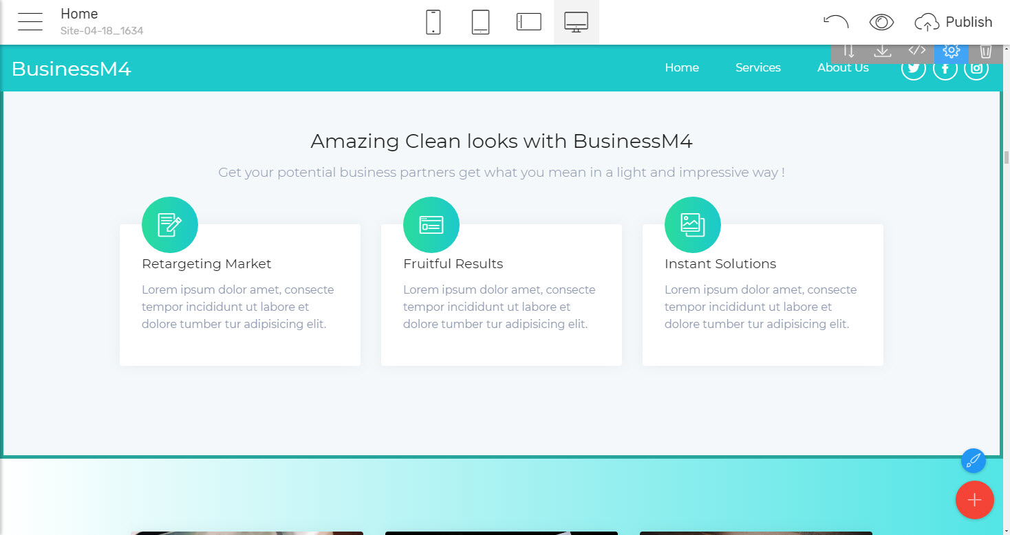 Features Business Website Template - premium html theme