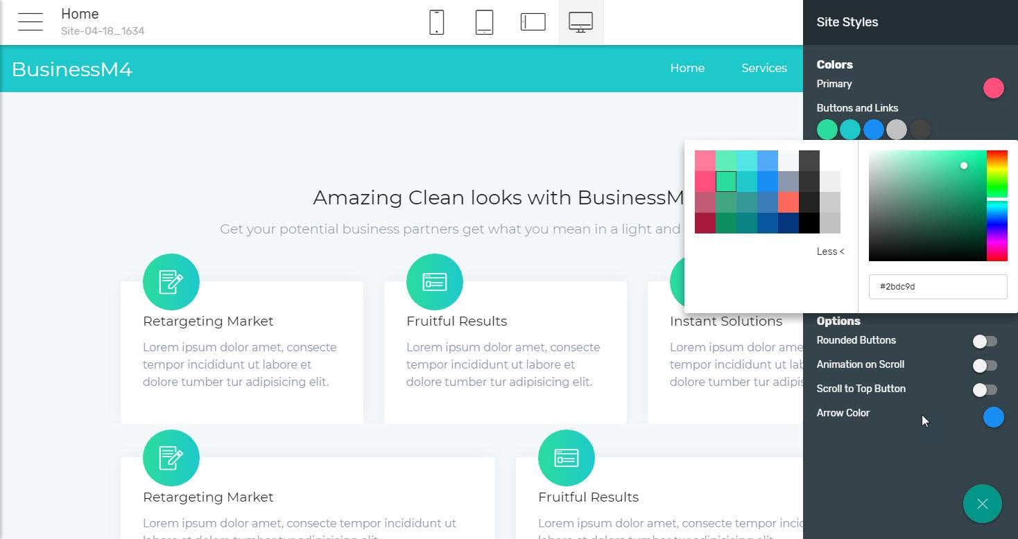 Features Business Website Template - premium html template