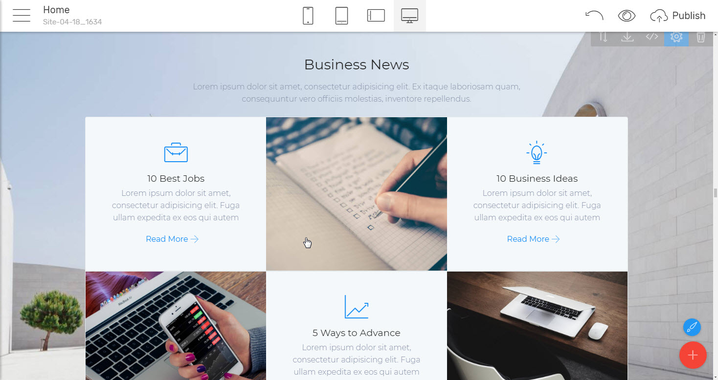 Accordions and Tabs Business Website Template - premium html theme