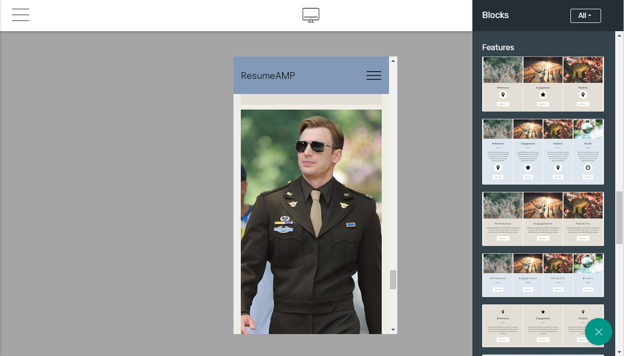 free bootstrap 4 template