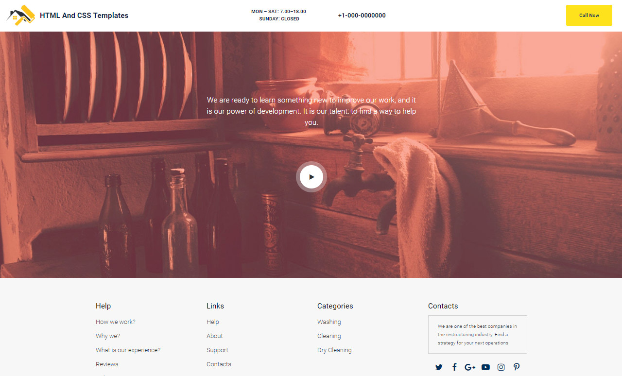 HTML And CSS Templates