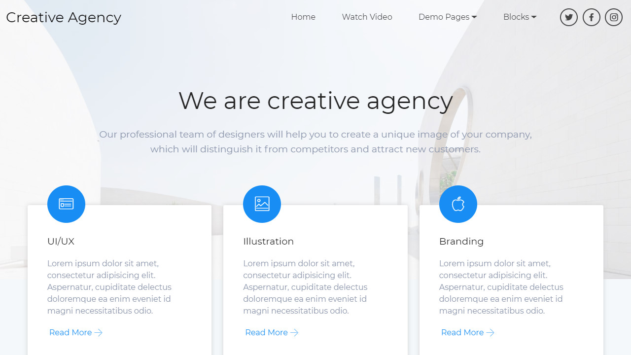 HTML5 Bootstrap Creative Agency Template
