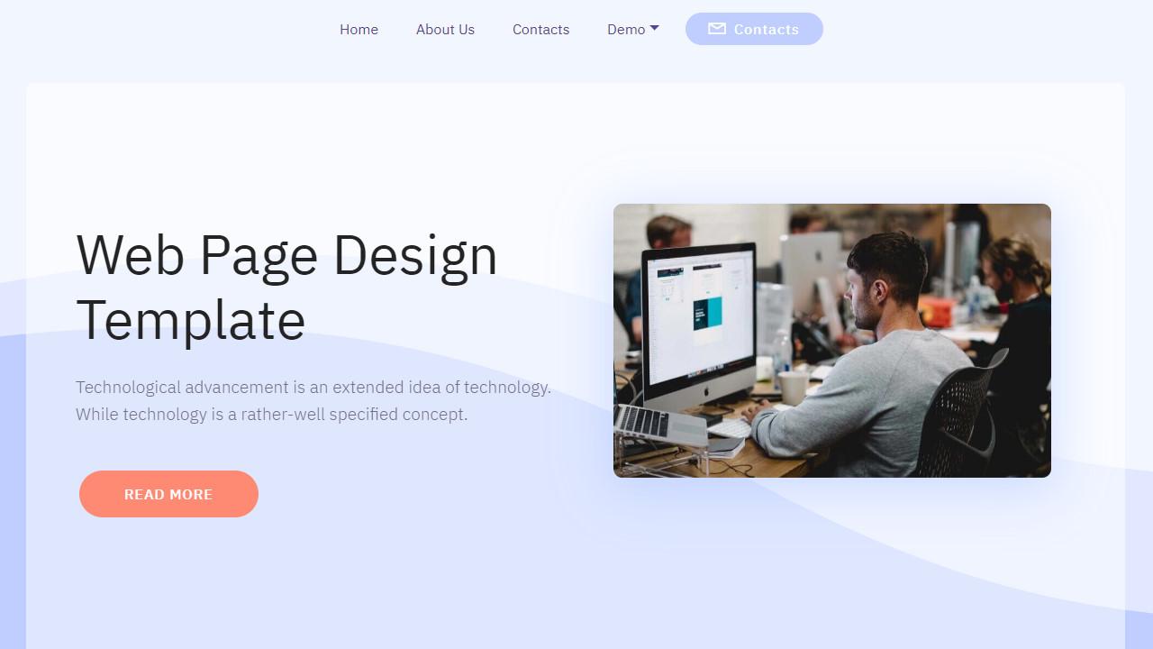 Tech Company Web Page Design Template