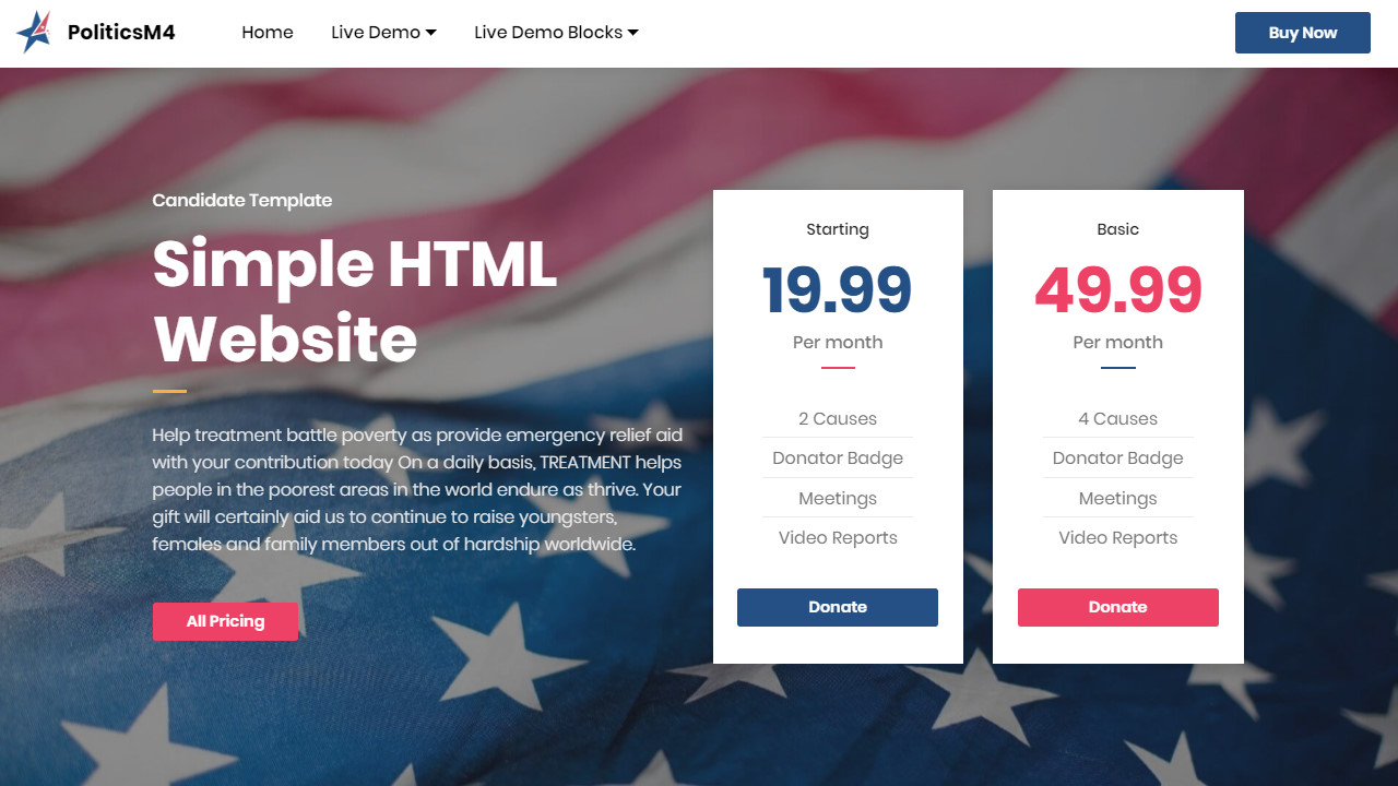 Candidate Simple HTML Website