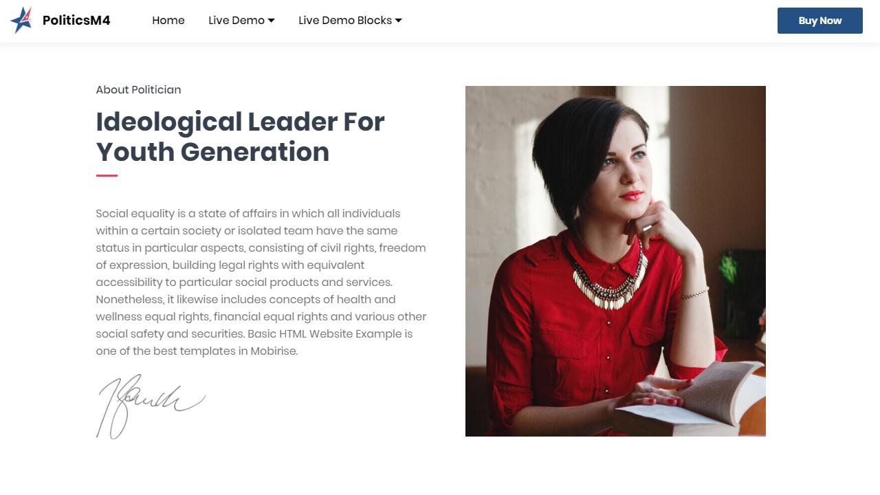 Election Basic HTML Website Example