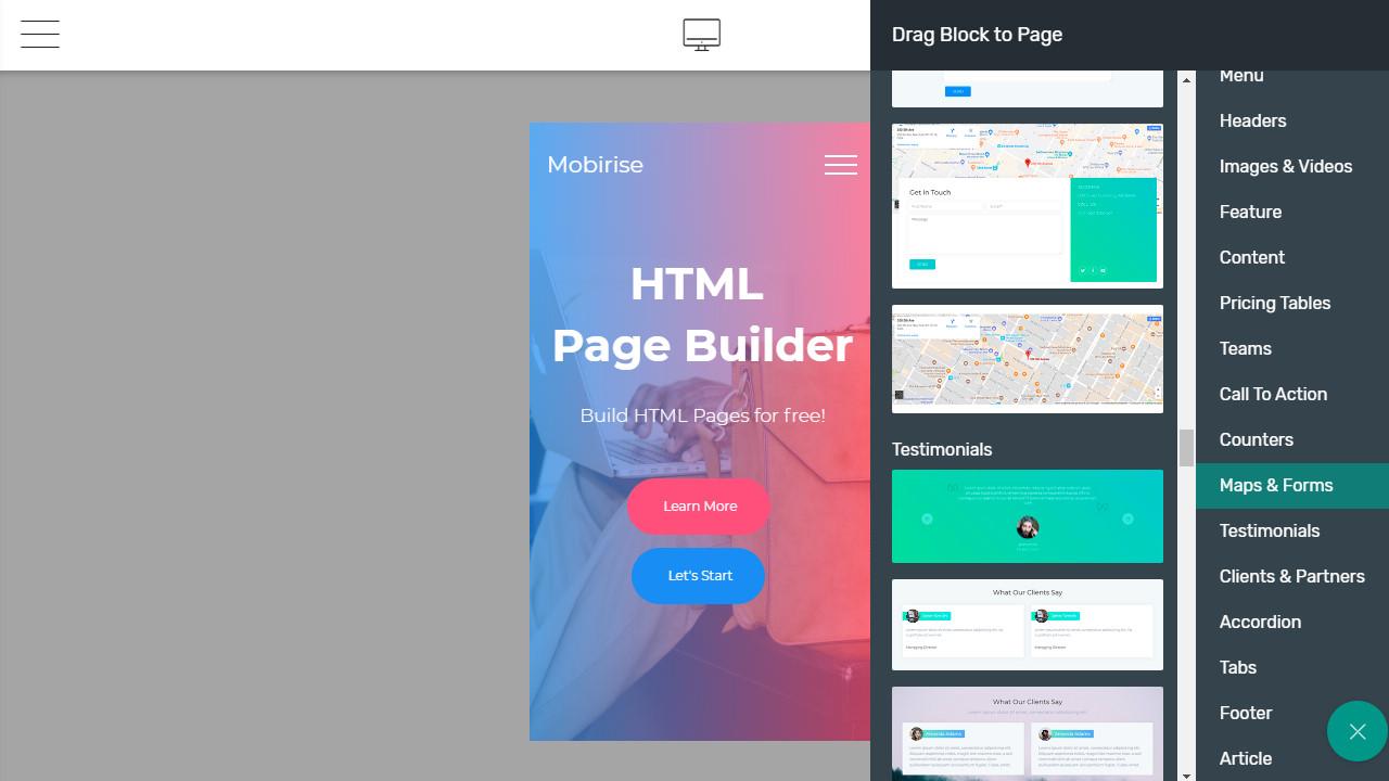 website builder app