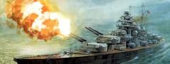 Ship in a battle