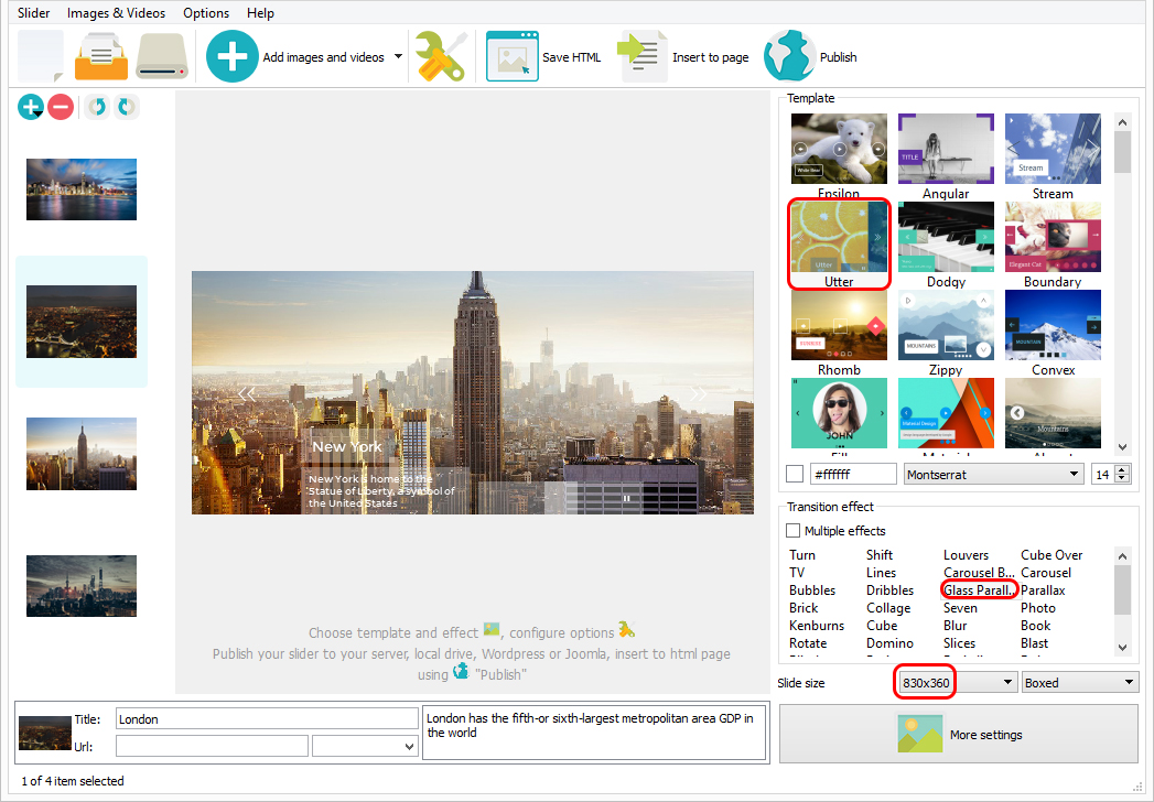 image slider code in html and css