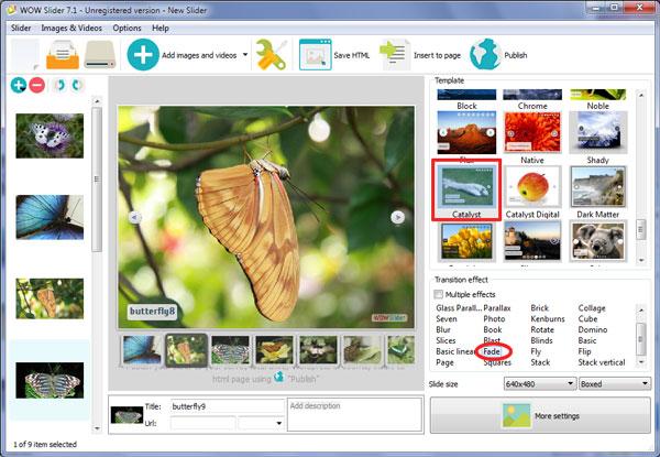 jQuery image rotator thumbnails