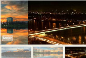 Responsive image gallery for website
