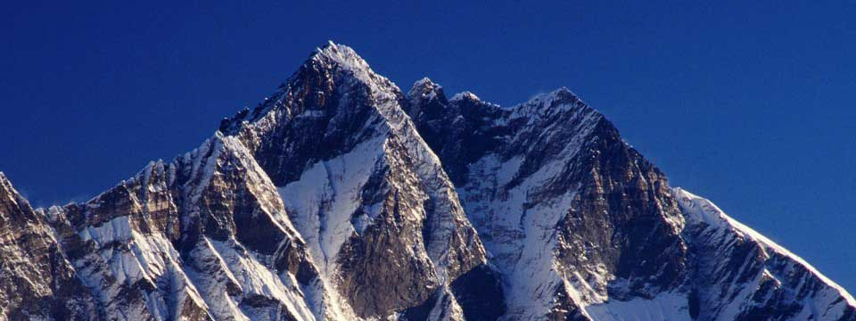 The peak of mountain Lhotse simple image withd effects horizontal content buttons