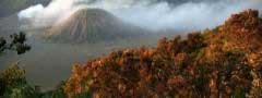 Mountain in the smoke photo slideshow css
