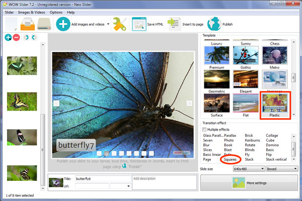 responsive image slideshow css