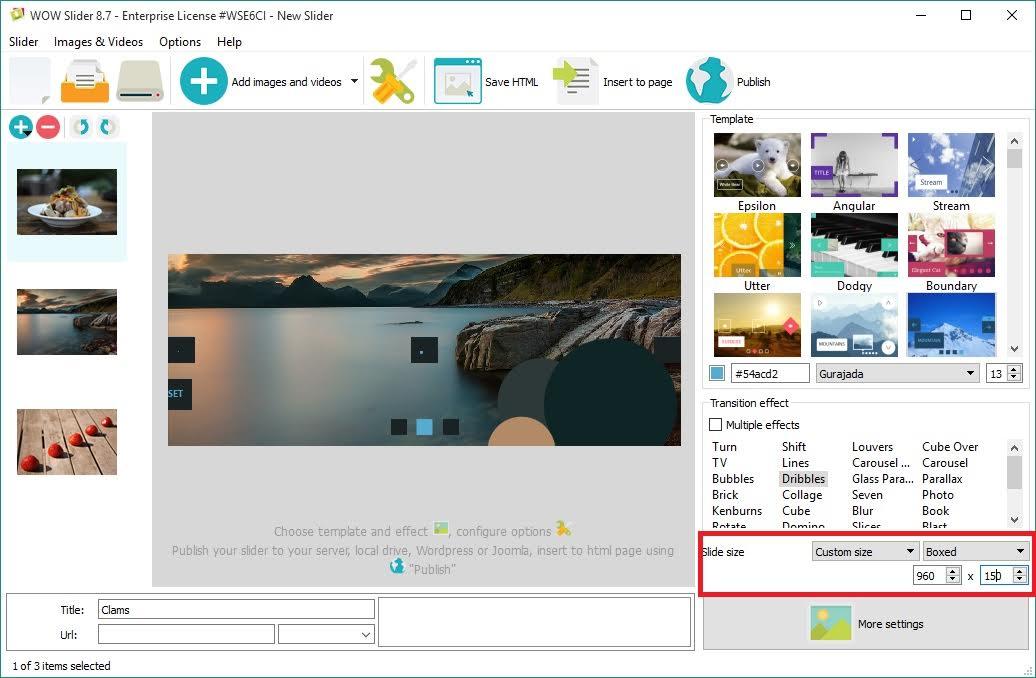 html5 slider example