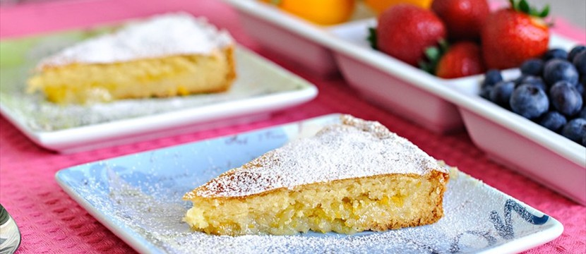 Lemon pie combination with gallery using for background