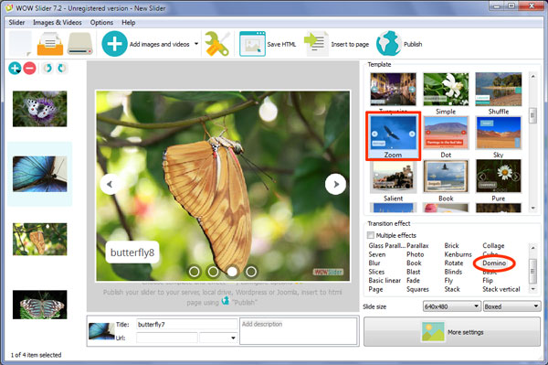 Slideshow software for websites