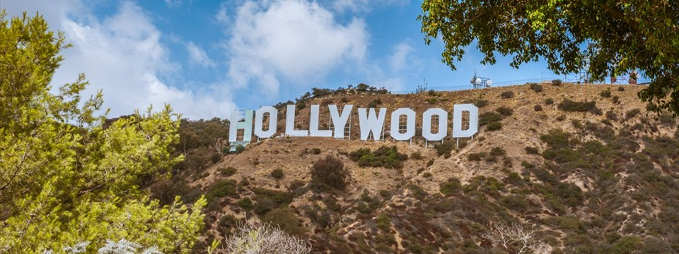 Hollywood text example side navigation