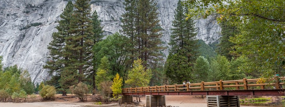 Yosemite National Park mixed width basic caption easing