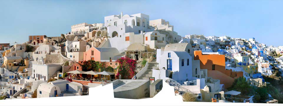 Panorama of Oia, Santorini free photo gallery website