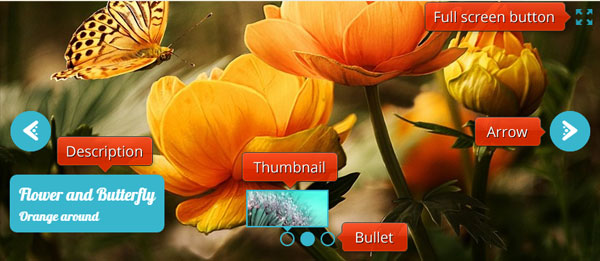 jquery full screen slider