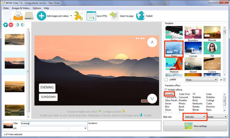 image html slider