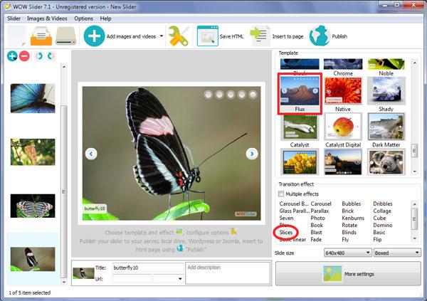 jQuery Div Slider & HTML Slider